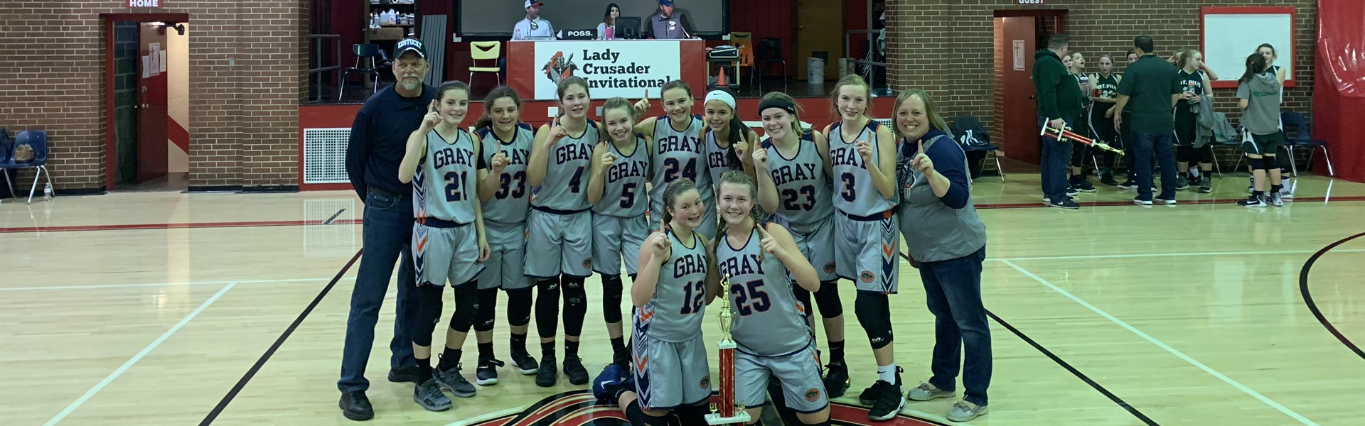 1st Place Lady Crusaders Invitational