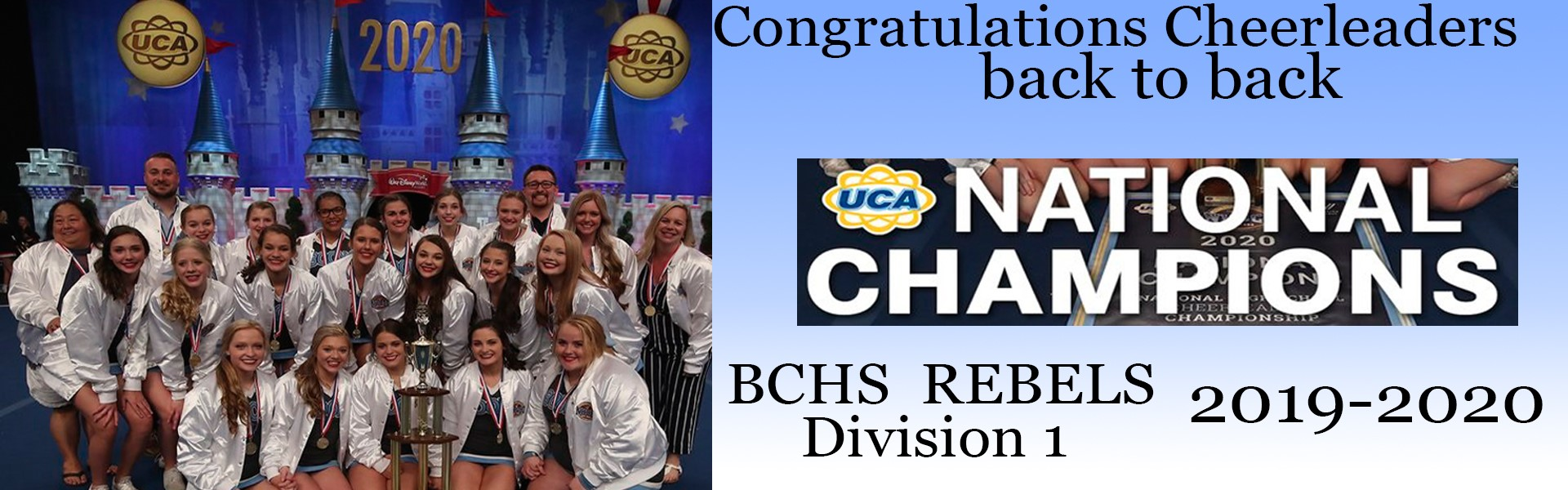 UCA National Champions BCHS