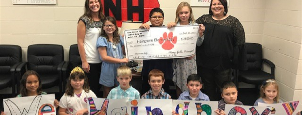 Mrs. Powers and students help to fundraise for students and the school of Hairgrove Elementary in Texas