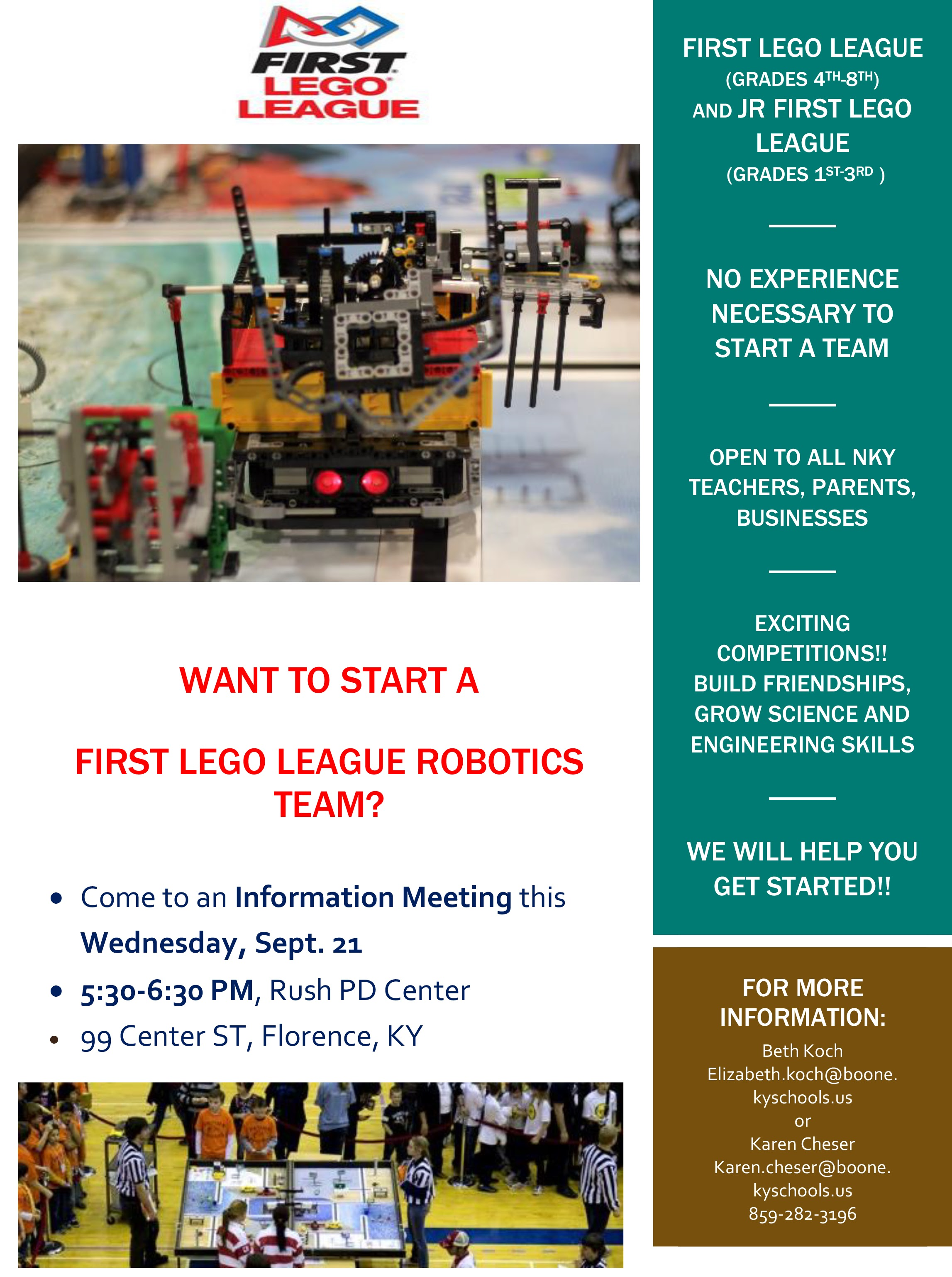 First Lego League flyer